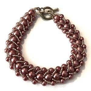 3 for $15 purple beaded bracelet
